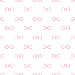 Vector cute minimalistic bow tie seamless pattern. Simple
