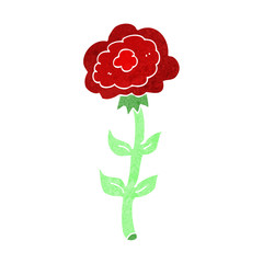 cartoon rose
