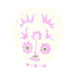 cartoon sugar skull