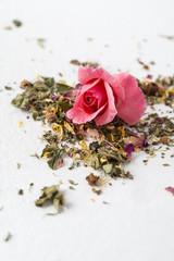 herbal tea with rose petal