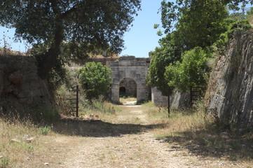 Eingang zur Bunkerruine