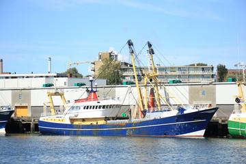 Fish trawler in harbor