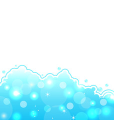Abstract water card, sea wallpaper
