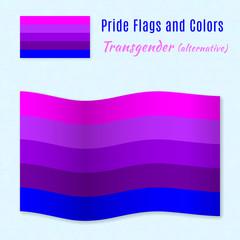 Transgender pride flag with correct color scheme