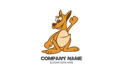 Kangaroo Character Logo Image Vector
