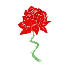 cartoon tattoo rose