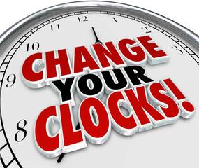 Change Your Clocks Set Hands Forward Back One Hour Daylight Savi