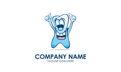 Tooth Character Logo Image Vector