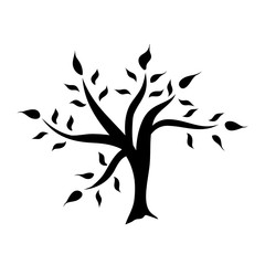 Tree silhouette isolated illustration