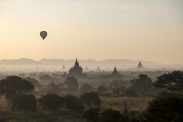 Ancient site of Bagan in Burma (Myanmar)