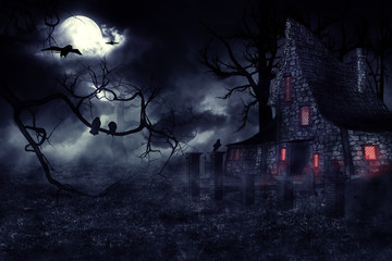 Haunted House Wall mural