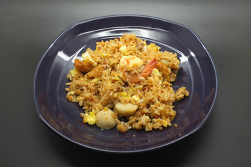Stir fried rice with chili paste