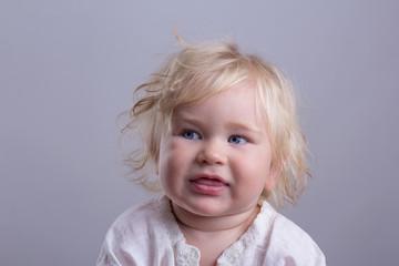 cute baby blonde