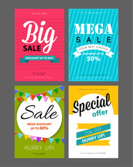 Big sale flyers template
