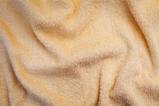 Wrinkled yellow blanket