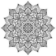 Geometric vector mandala.