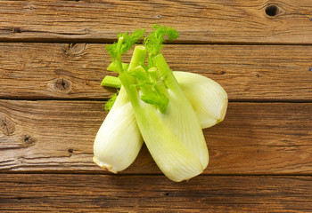 fresh fennel bulbs