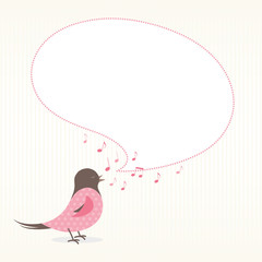 Bird with a bubble speech