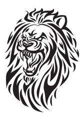 Fototapeta roaring lion head