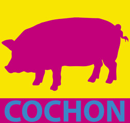 Cochon pop art