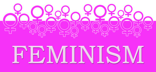 Feminism Pink Female Symbols On Top