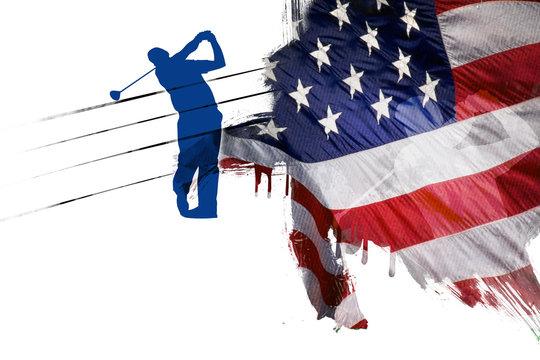 Drapeau USA Golf