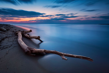 Spoed Fotobehang Nachtblauw Blue magic - long exposure seascape before sunrise