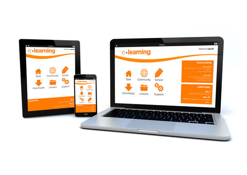 responsive design e-learning platform concept