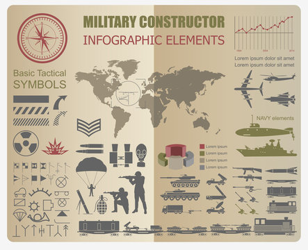 Military infographic template. Vector illustration with Top powe