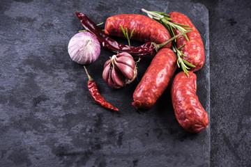 spanish traditional chorizo sausage