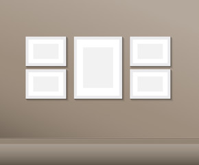 Vector picture frames on wall