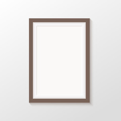 Vector picture frames on white background