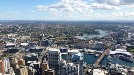 Fototapete - Vue de Sydney depuis la Sydney Tower, Australie