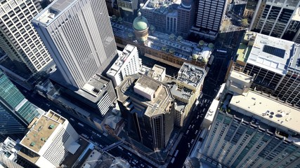 Fototapete - Les toits de Sydney depuis la Sydney Tower, Australie
