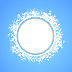 Snow fall. Holiday winter theme background.