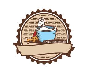 homemade cookies logo emblem vintage