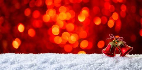 rote Weihnachtskarte bokeh