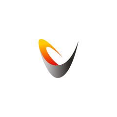 V letter abstract technology logo