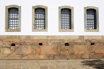 Windows of the Ancient Public Jail - Historic Town of Tiradentes