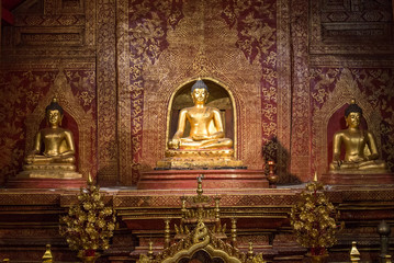 golden statue of buddha also most respect of thai people called