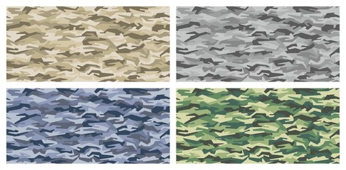 camouflage pattern set - desert, urban, navy, jungle