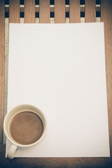 vintage paper for text with coffee