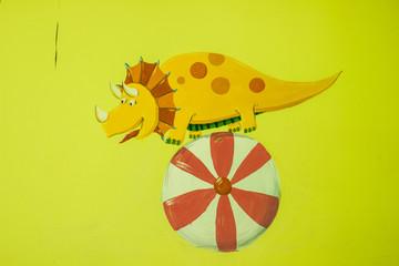 Art  style dinosaur  painting