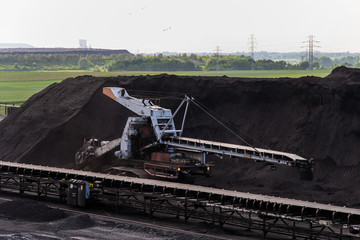 Coal mine view, industry zone