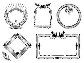 430b1c5845271 Traditional tribal mexican symbols. Navajo ethnic culture vector ...