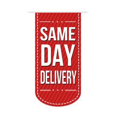 Same day delivery banner design