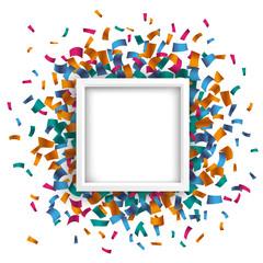 White Square Confetti