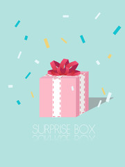 Surprise box gift vector works for website or special card