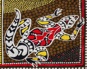 Aborigin style fabric