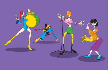 Cartoon female music group.